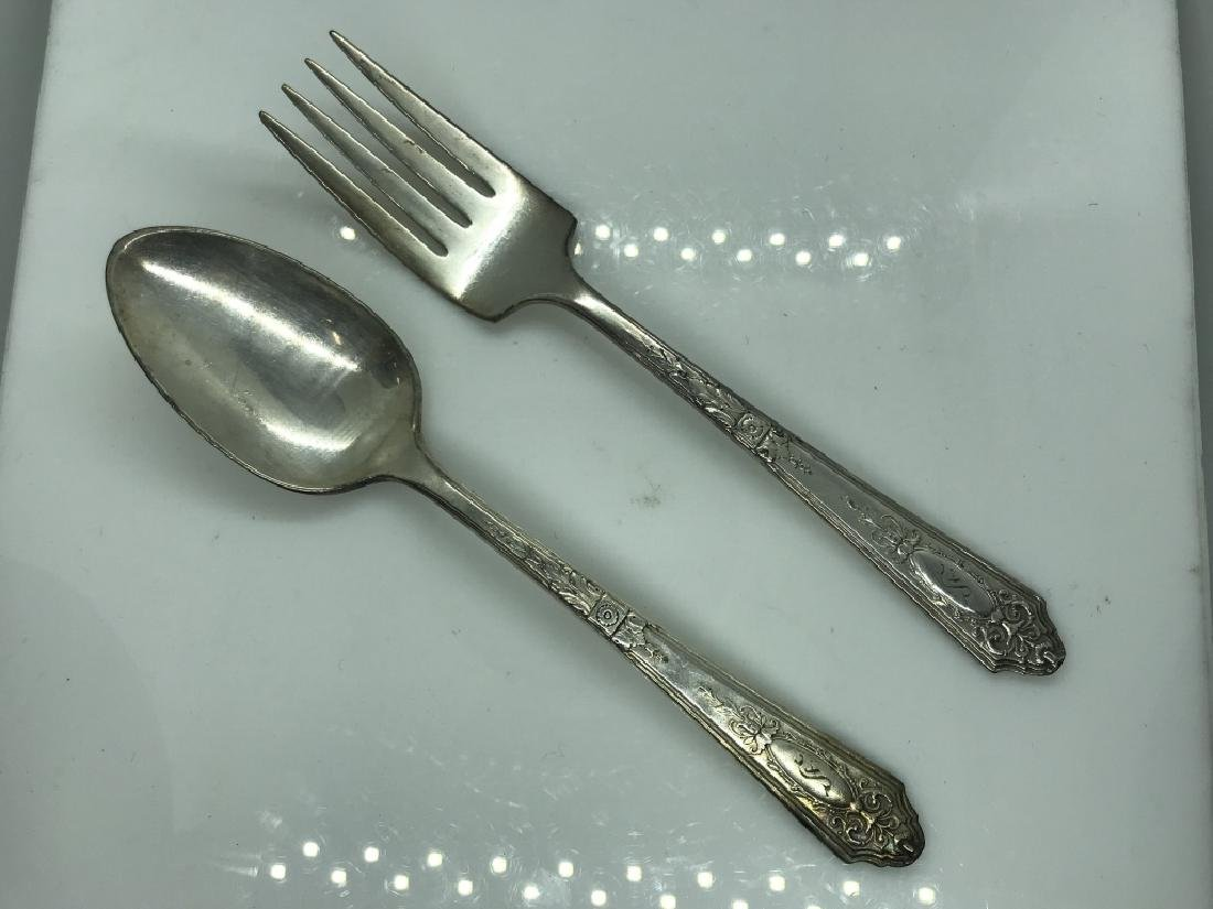 74 Piece R. Wallace SilverPlate Flatware - 10