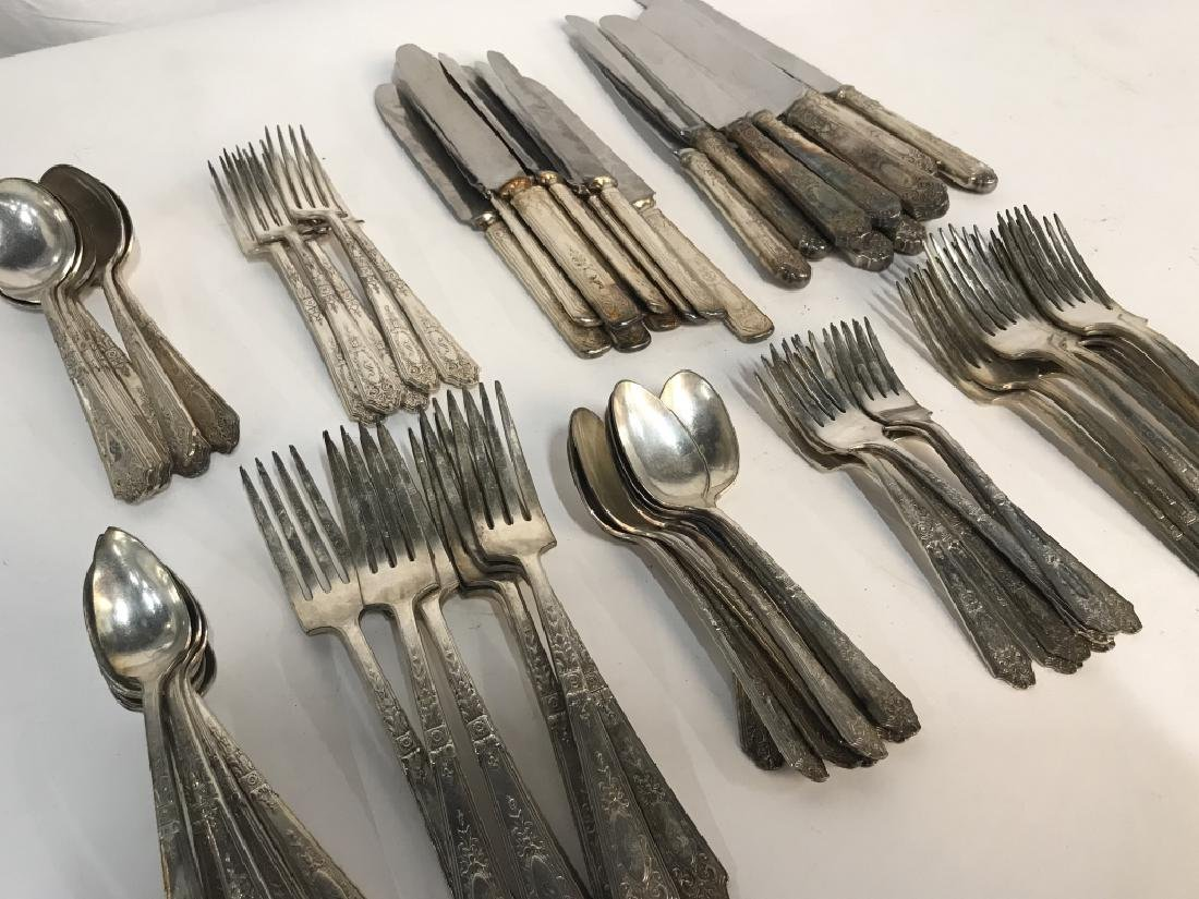 74 Piece R. Wallace SilverPlate Flatware - 2