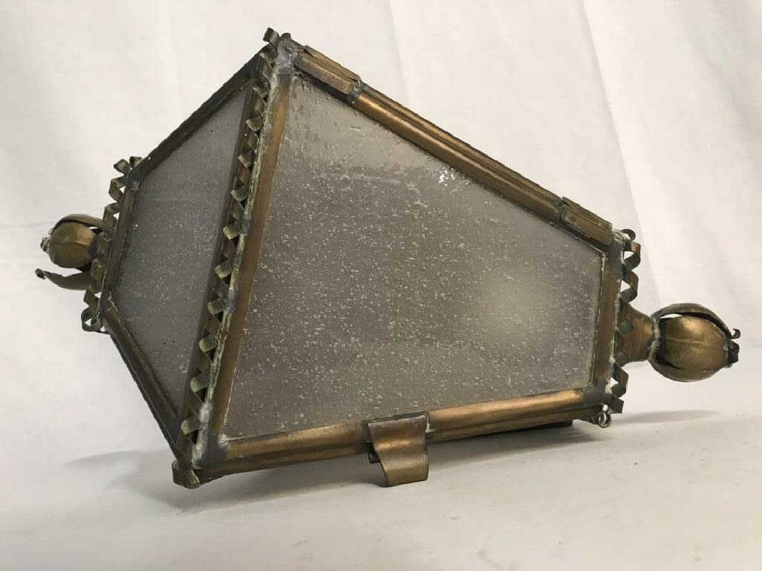 Vintage Brass and Glass Wall Sconce