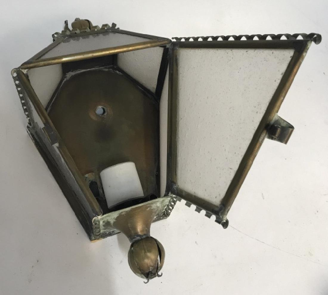 Vintage Brass and Glass Wall Sconce - 3