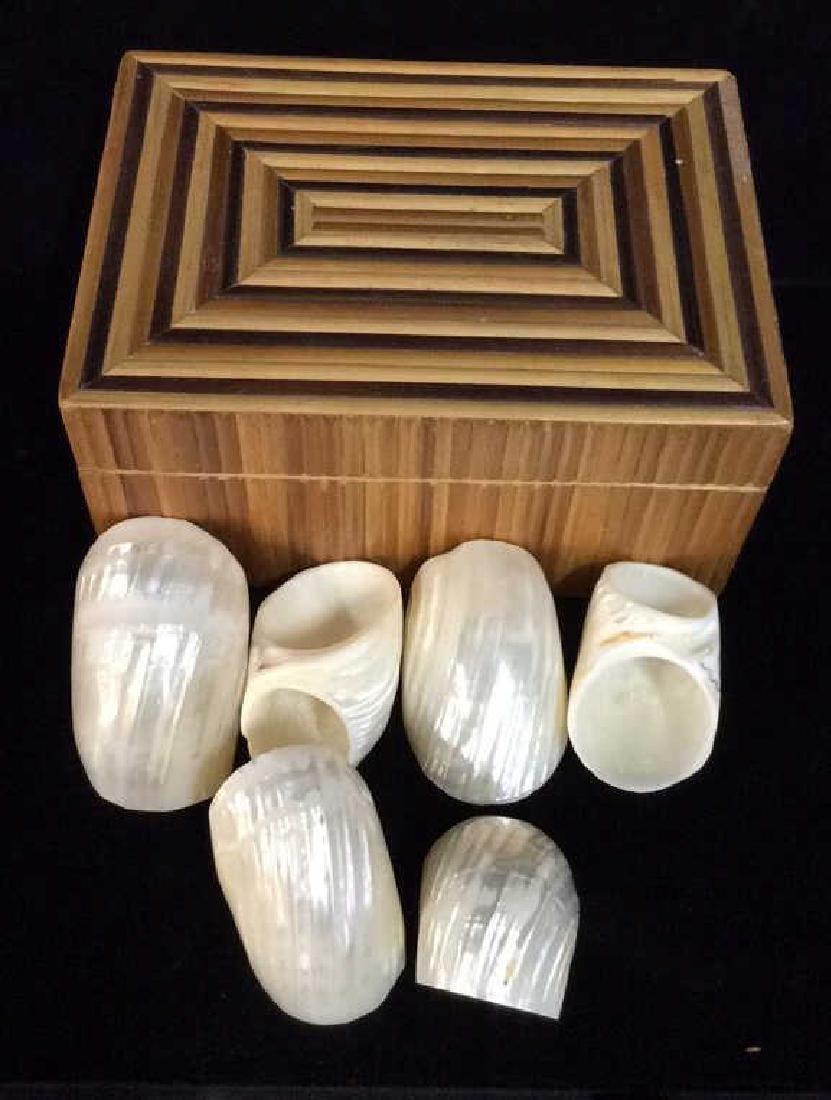 Set 13 Sea Shell Napkin Rings W Box
