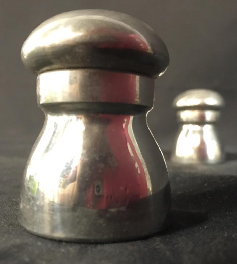 EAGLES OF SHEFFIELD Pewter Salt & Pepper Shakers - 3