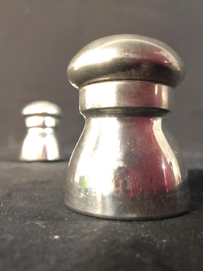 EAGLES OF SHEFFIELD Pewter Salt & Pepper Shakers - 4