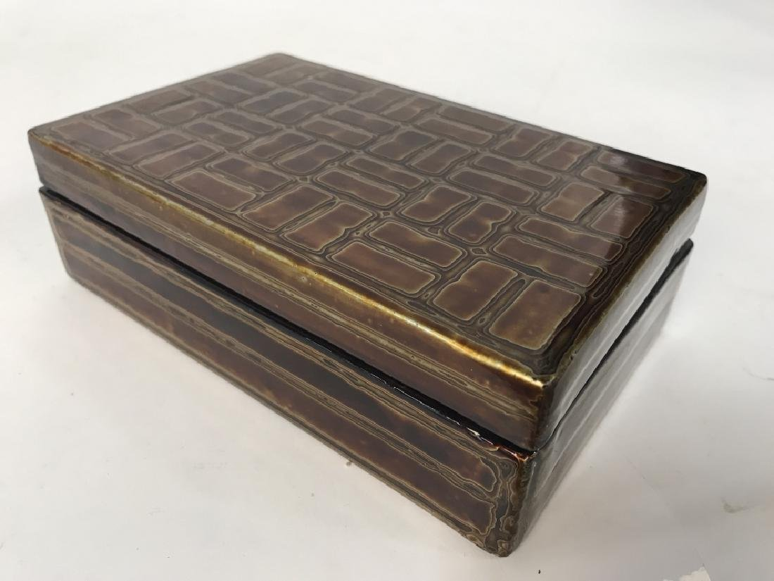 Japanese Lacquer Trinket Box - 7