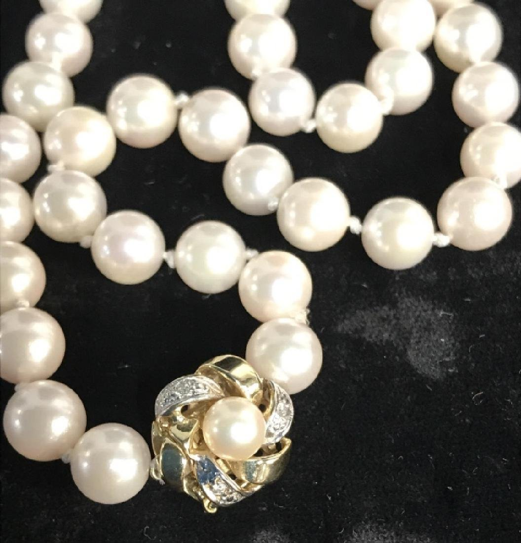 Lot 2 Pearl Style Beaded Necklaces
