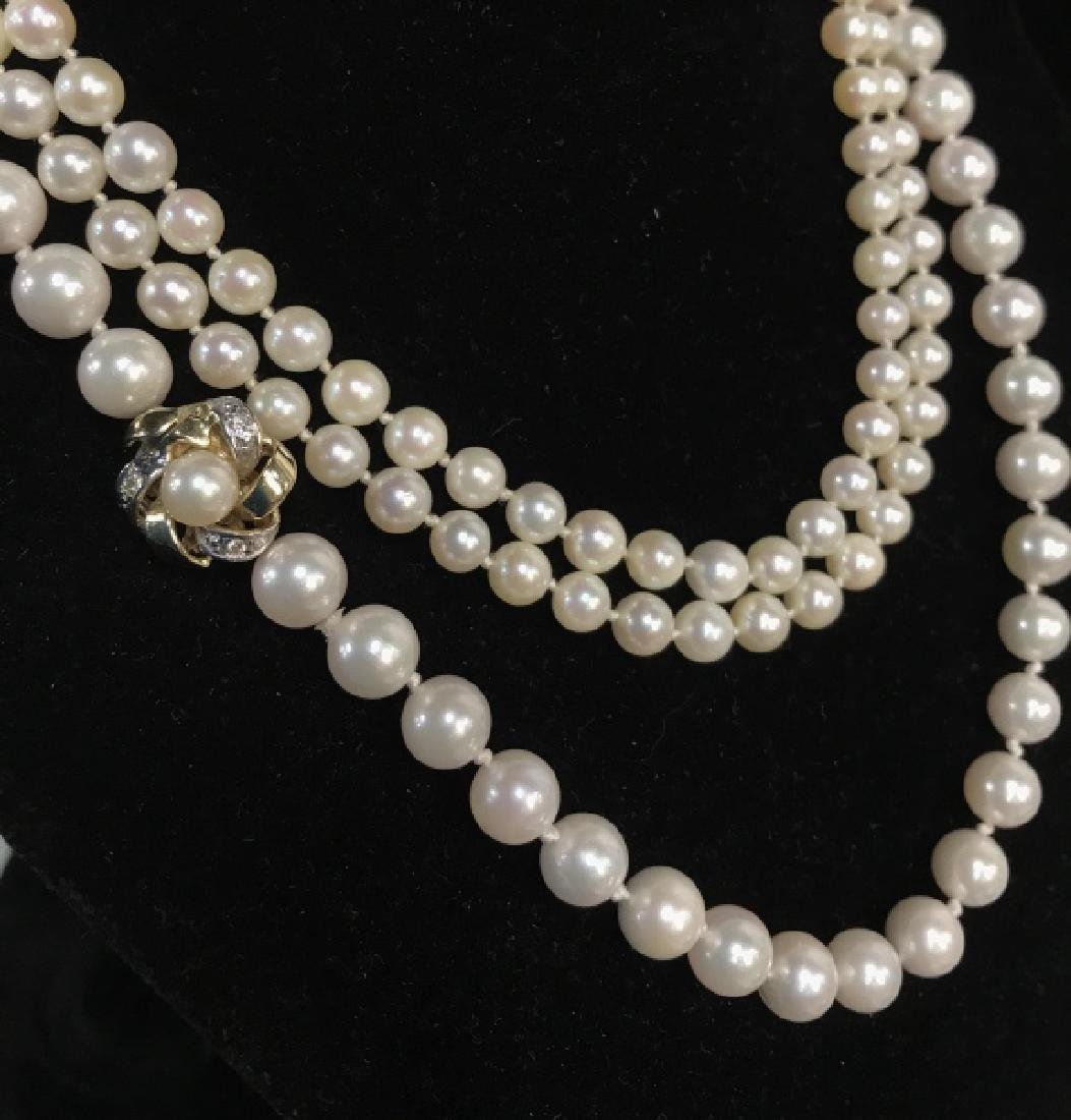 Lot 2 Pearl Style Beaded Necklaces - 2