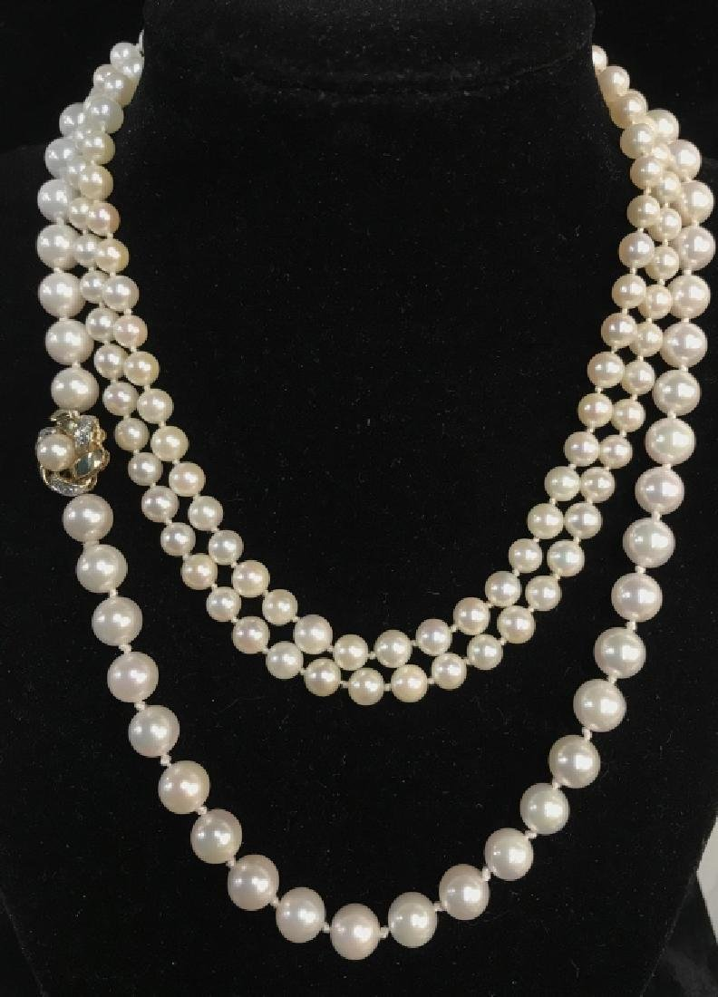 Lot 2 Pearl Style Beaded Necklaces - 3