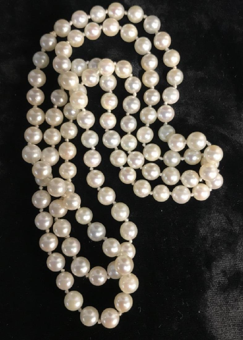 Lot 2 Pearl Style Beaded Necklaces - 4