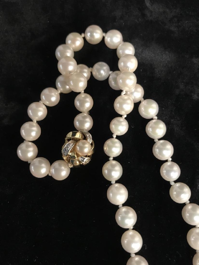 Lot 2 Pearl Style Beaded Necklaces - 5