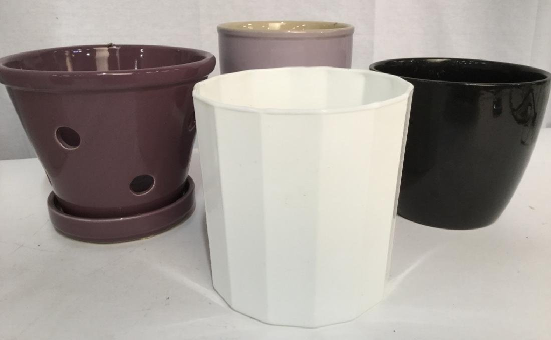 Lot 4 Ceramic Planters in Various Styles