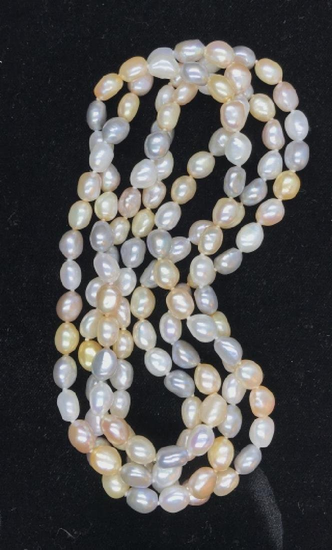 Multi toned Pearl Style Beaded Necklace - 6