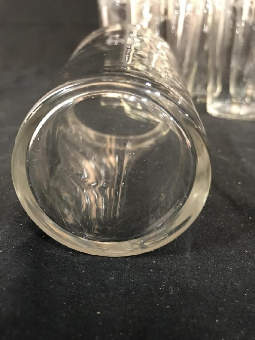 Set of 6 Vintage Etched Glass Water Glasses - 6