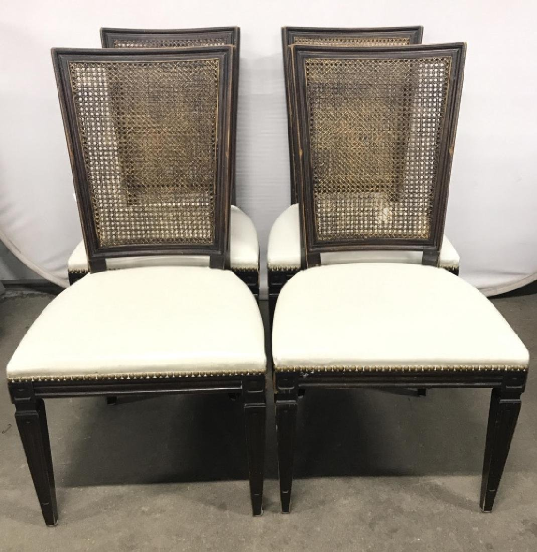 Set 4 Vintage Caned Side Chairs