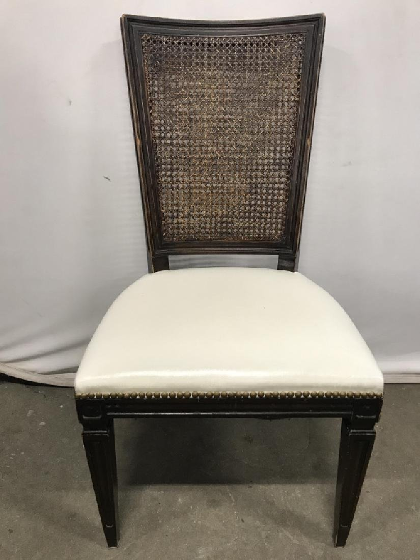 Set 4 Vintage Caned Side Chairs - 2