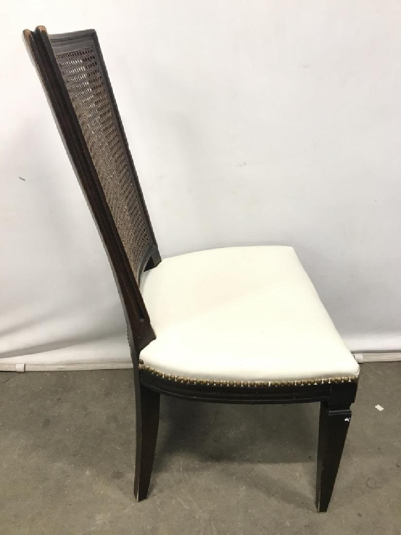 Set 4 Vintage Caned Side Chairs - 4