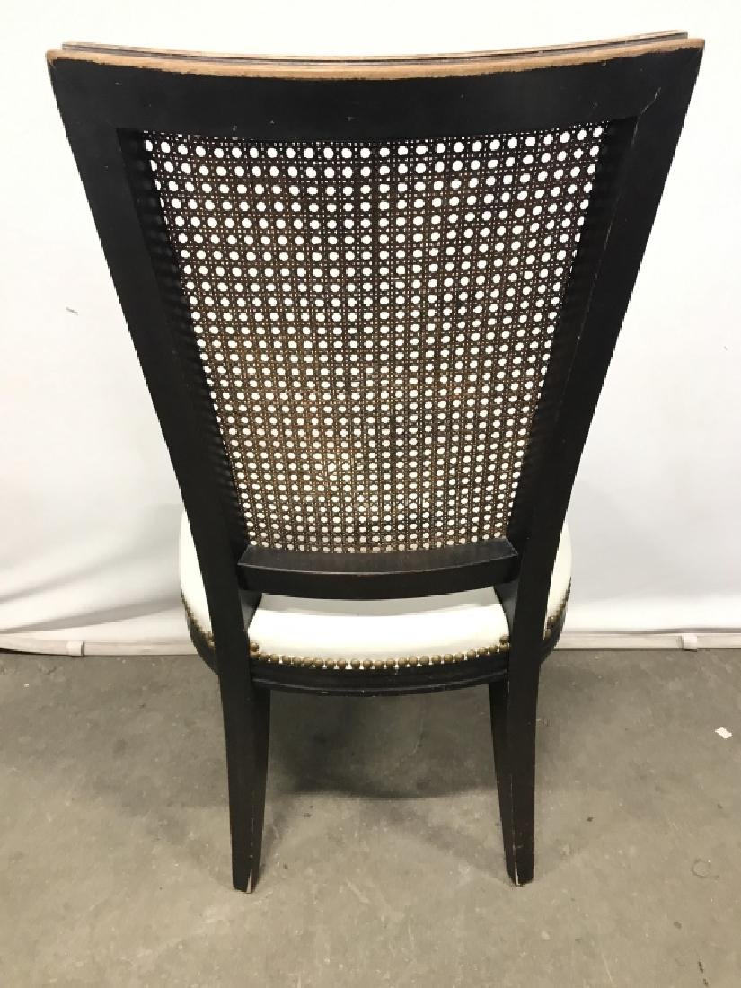 Set 4 Vintage Caned Side Chairs - 5