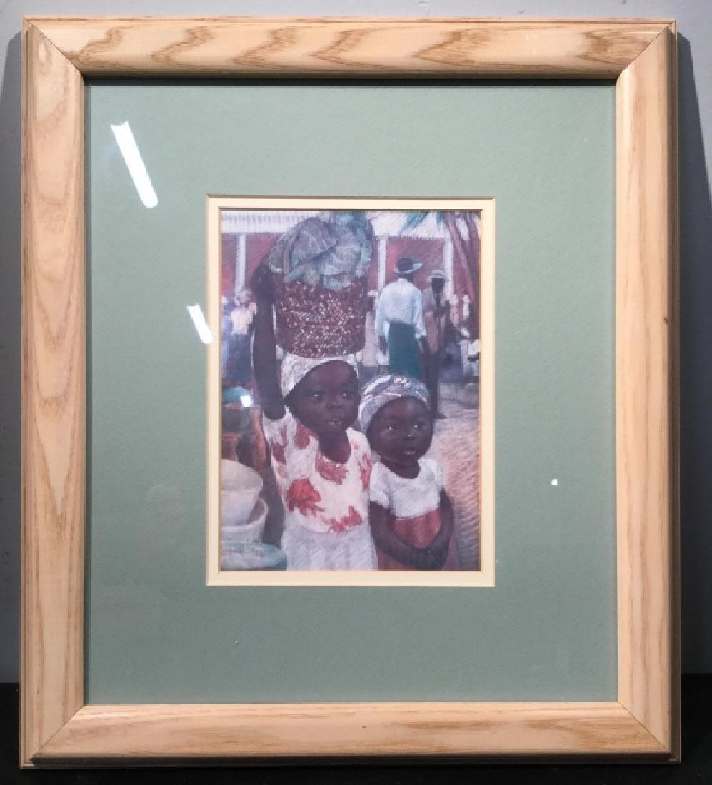 Framed JOYSMITH Print Of Girls in Market