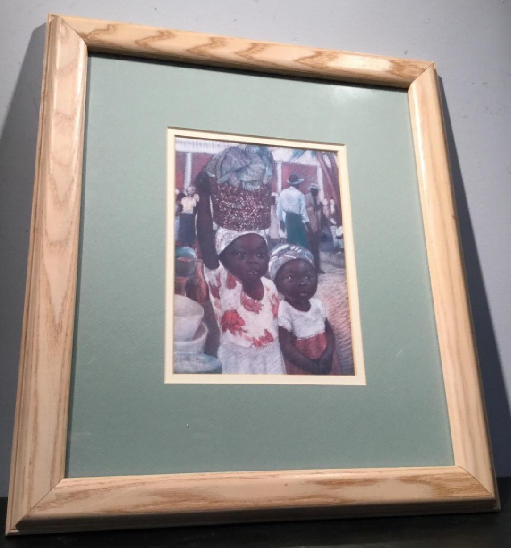 Framed JOYSMITH Print Of Girls in Market - 3