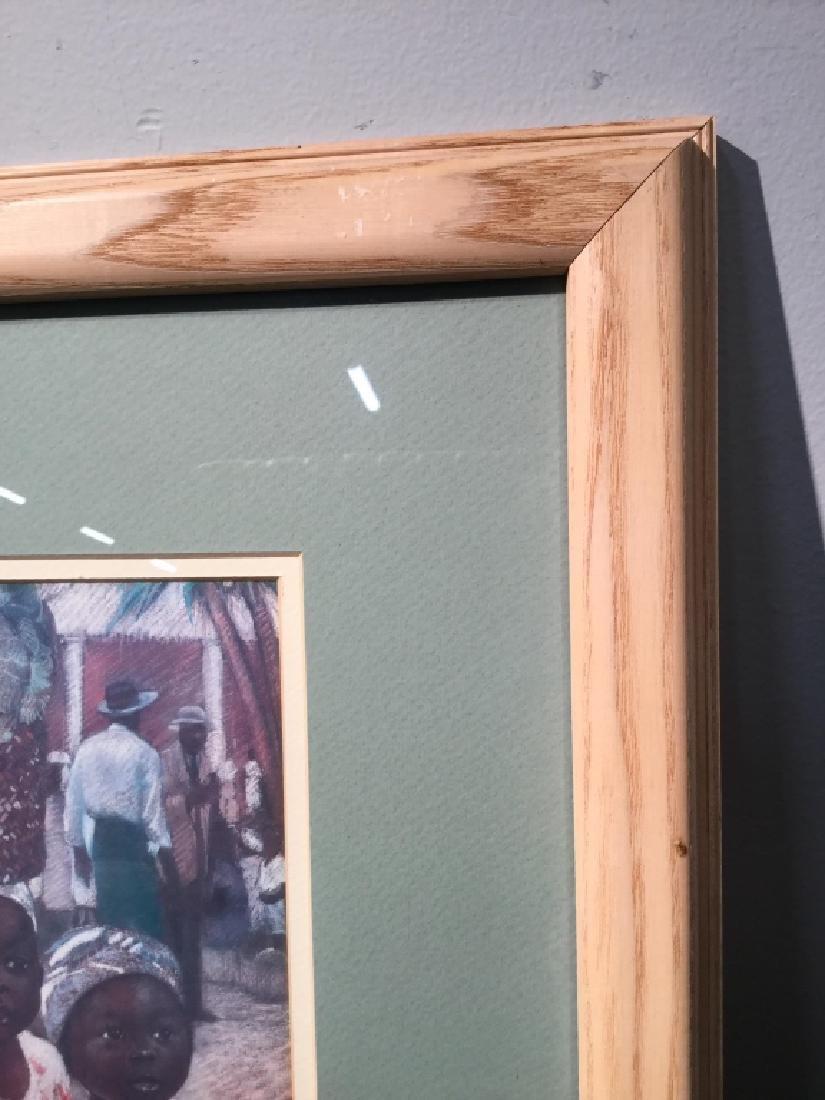 Framed JOYSMITH Print Of Girls in Market - 4