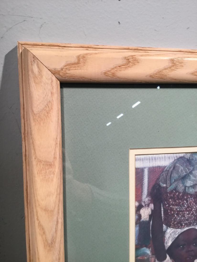 Framed JOYSMITH Print Of Girls in Market - 5
