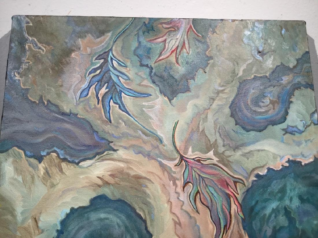 Original Acrylic Painting, Abstract Leaves - 3