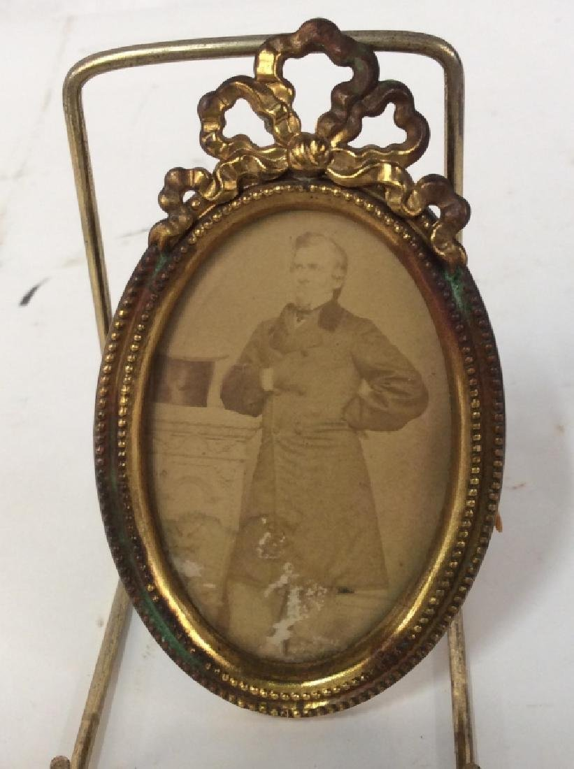 Antique Gilt Picture Frame with Photo