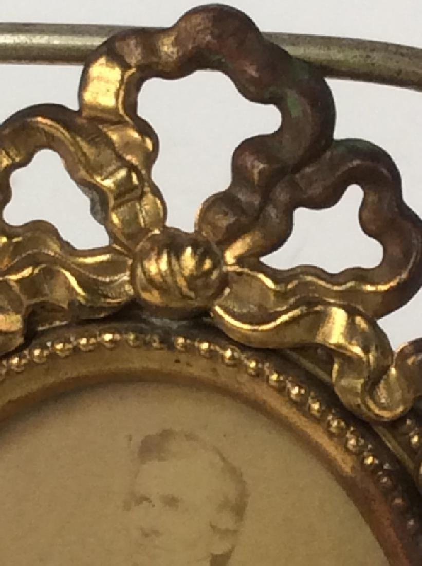 Antique Gilt Picture Frame with Photo - 3