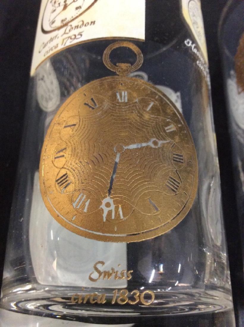 Set of  7 Vintage Clock Theme High Ball Glasses - 6