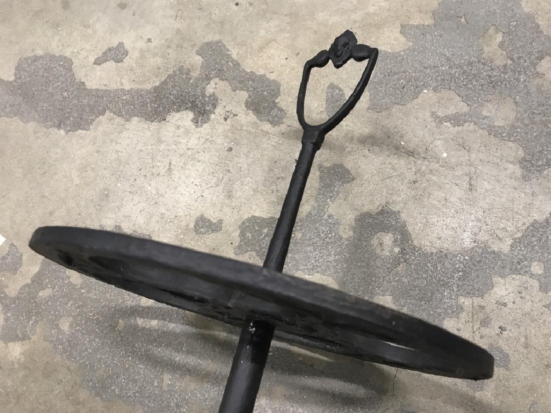Vintage Painted Cast Metal Umbrella Stand - 8