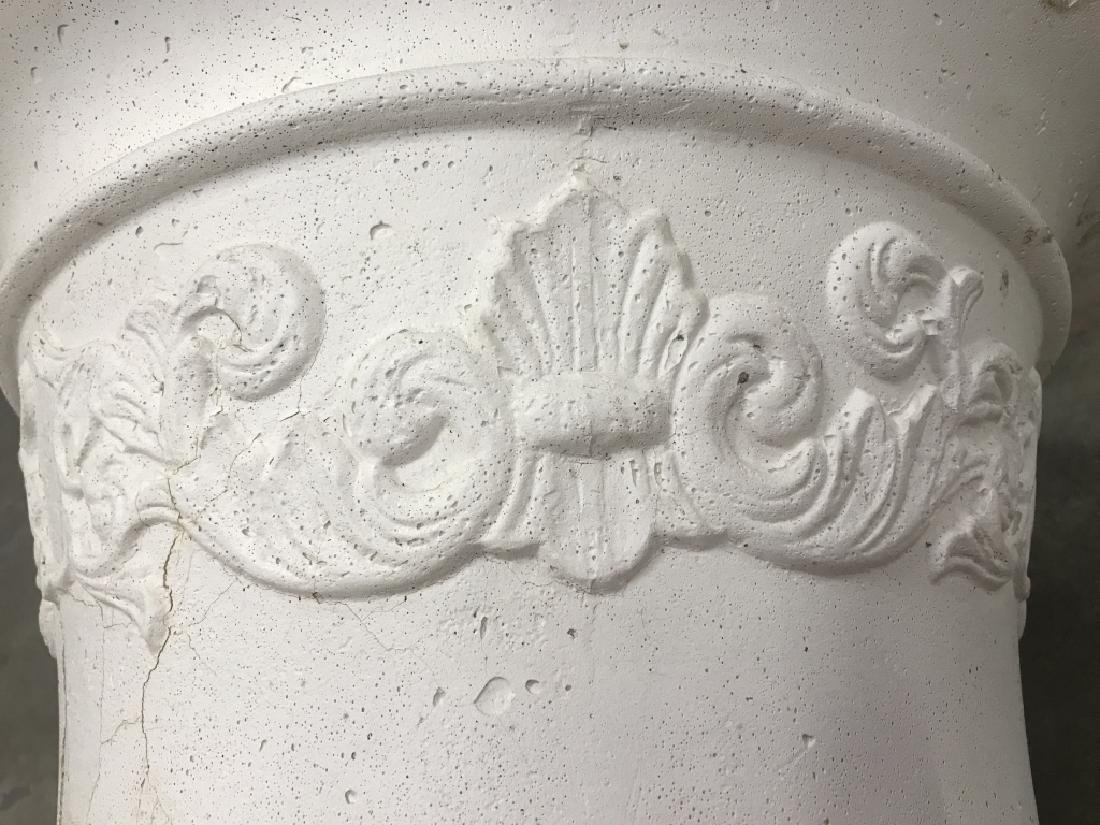 Pair Classical Style Cast Stone Entryway Planters - 10