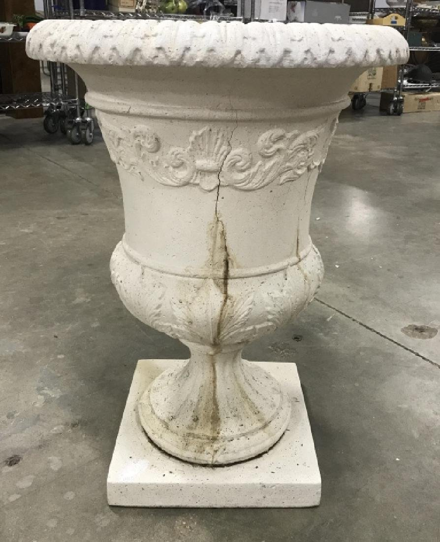 Pair Classical Style Cast Stone Entryway Planters - 6