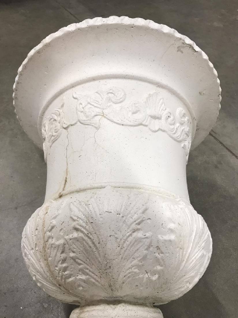 Pair Classical Style Cast Stone Entryway Planters - 9