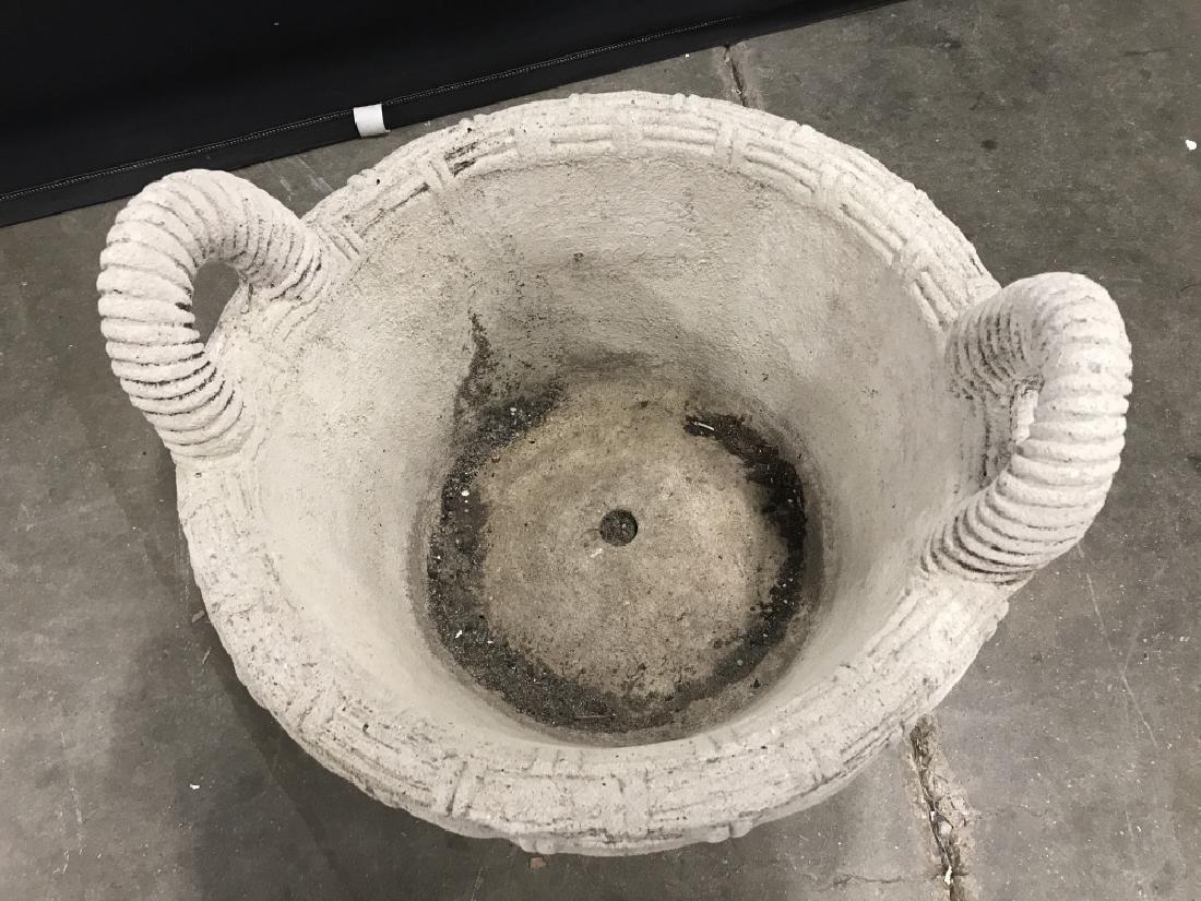 Outdoor Stone Comoosite Planter Stylized as Basket - 2