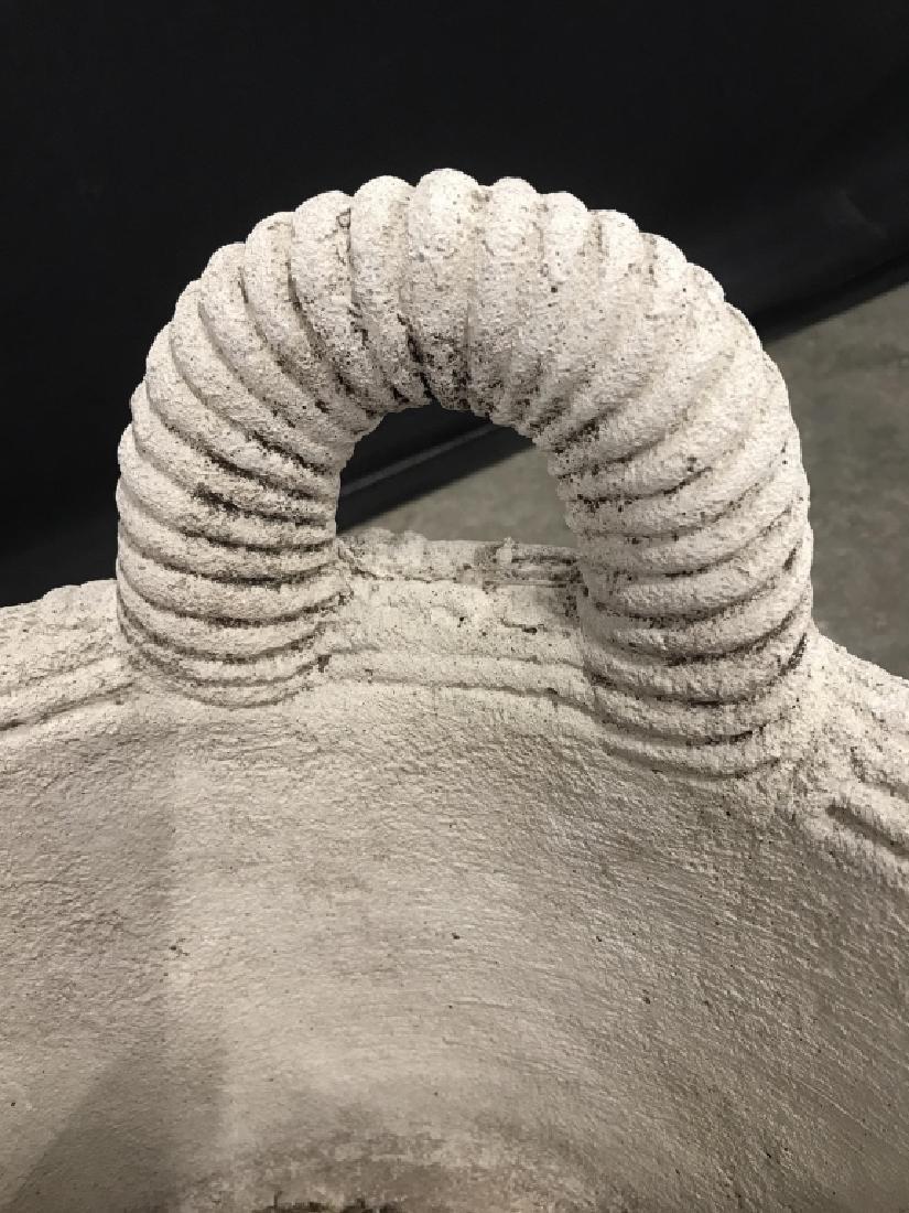 Outdoor Stone Comoosite Planter Stylized as Basket - 5