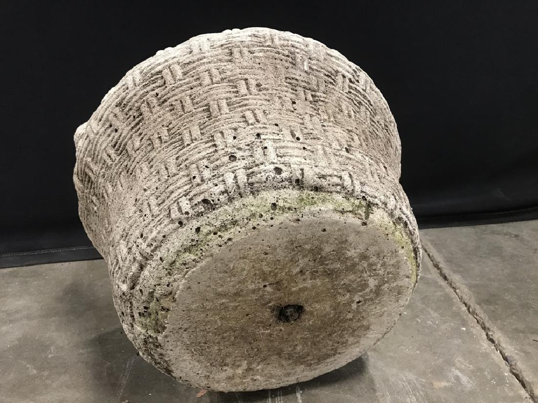 Outdoor Stone Comoosite Planter Stylized as Basket - 7