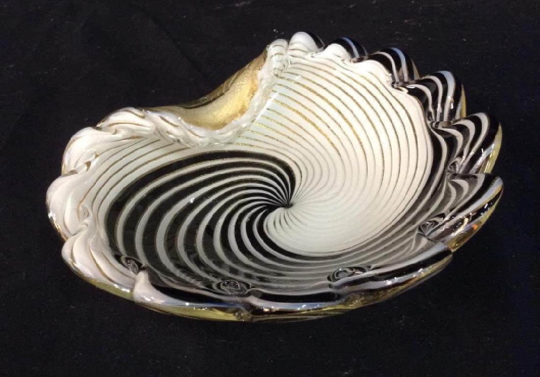 Murano Art Glass Shell Dish