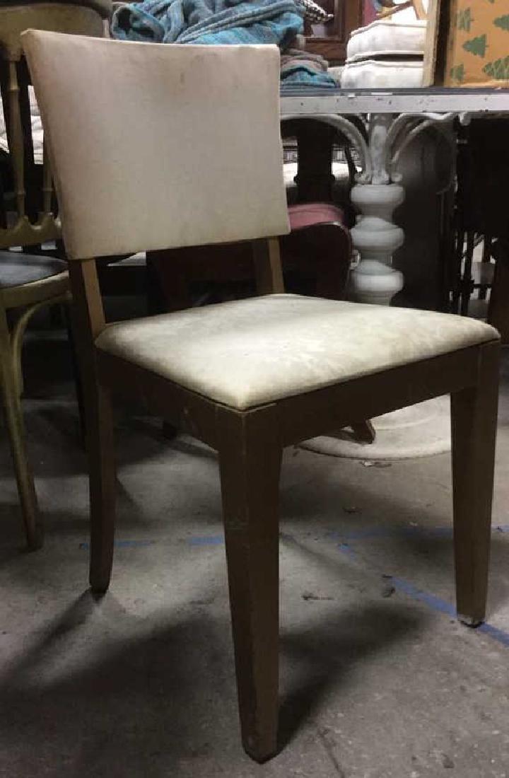 Vintage Upholstered Wooden Side Chair
