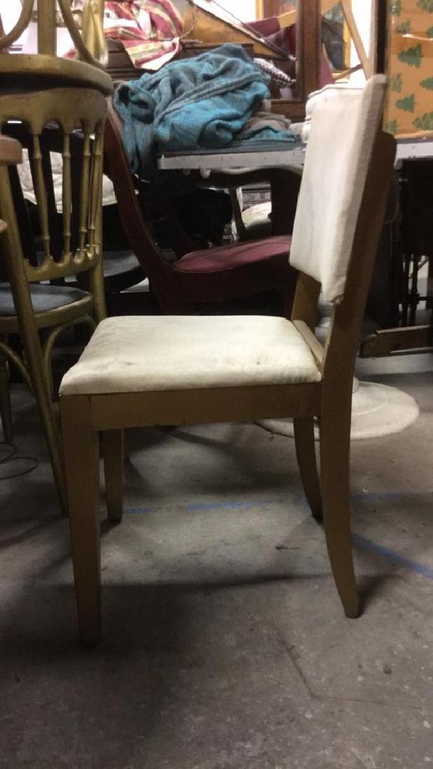 Vintage Upholstered Wooden Side Chair - 4