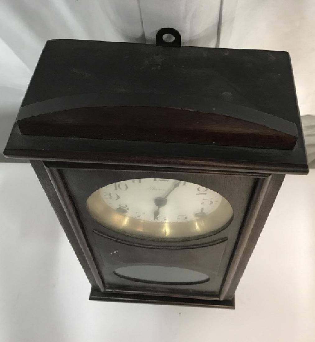 Vintage Ansonia Wood Wall Clock - 3