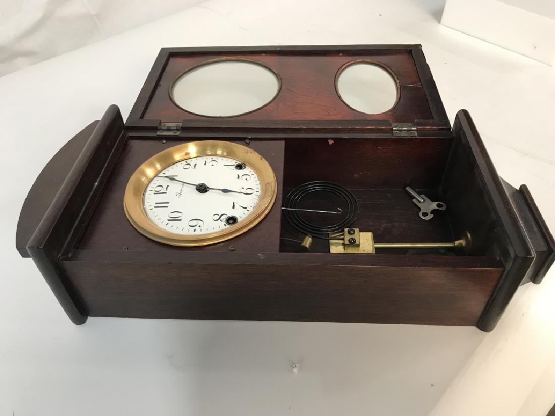 Vintage Ansonia Wood Wall Clock - 4