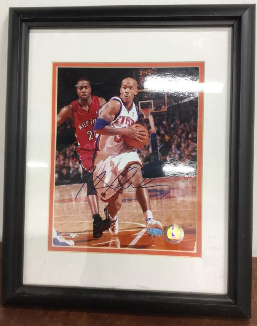 Stephan Marbury Signed Photograph - 2