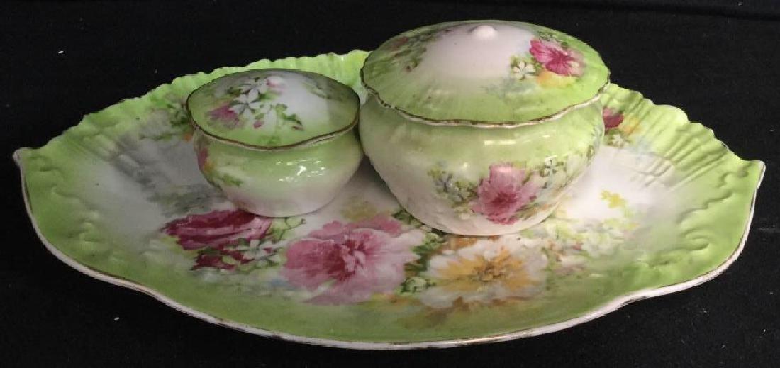 LIMOGES Set Of Lidded Jars & Platter