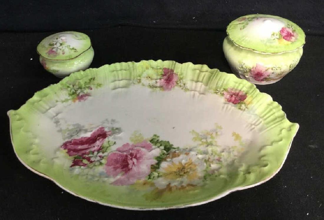 LIMOGES Set Of Lidded Jars & Platter - 2