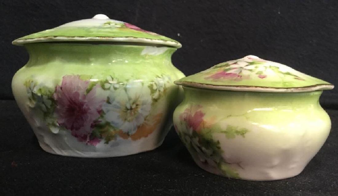 LIMOGES Set Of Lidded Jars & Platter - 8