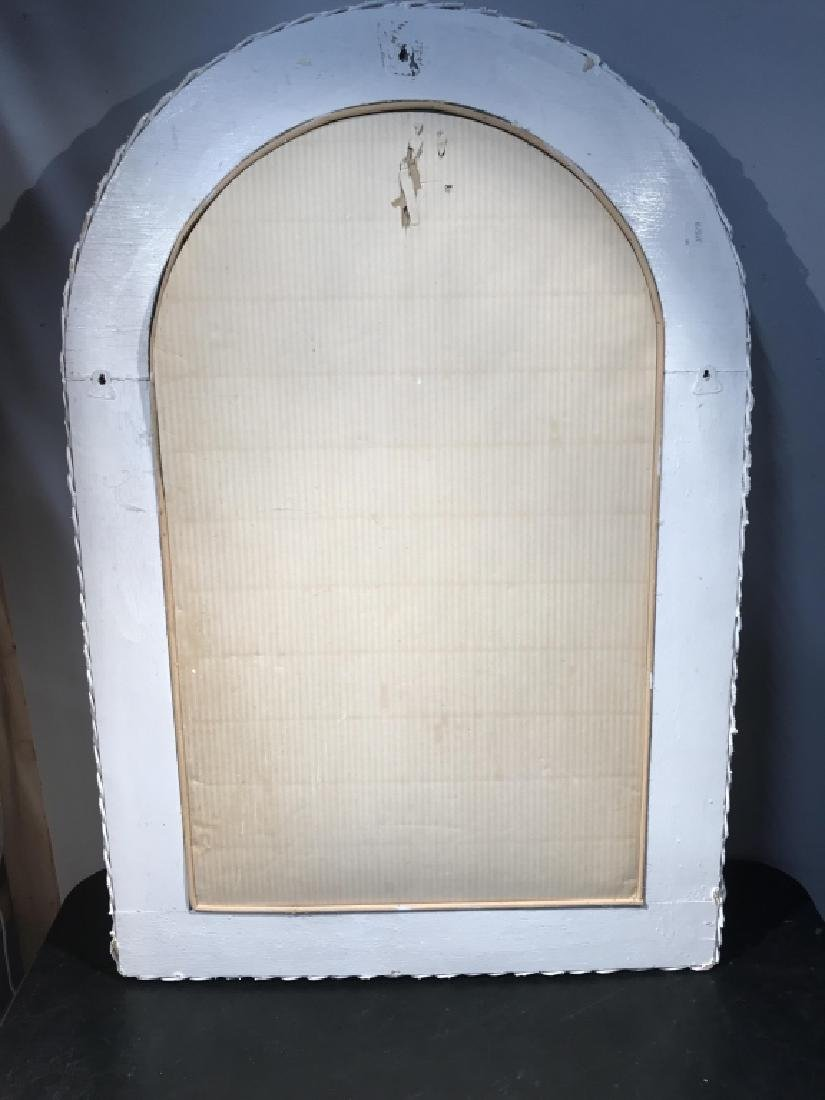 Painted White Wicker Framed Mirror - 7