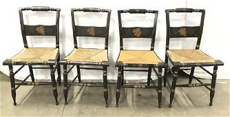 Set 4 Vintage L Hitchcock Style Side Chairs