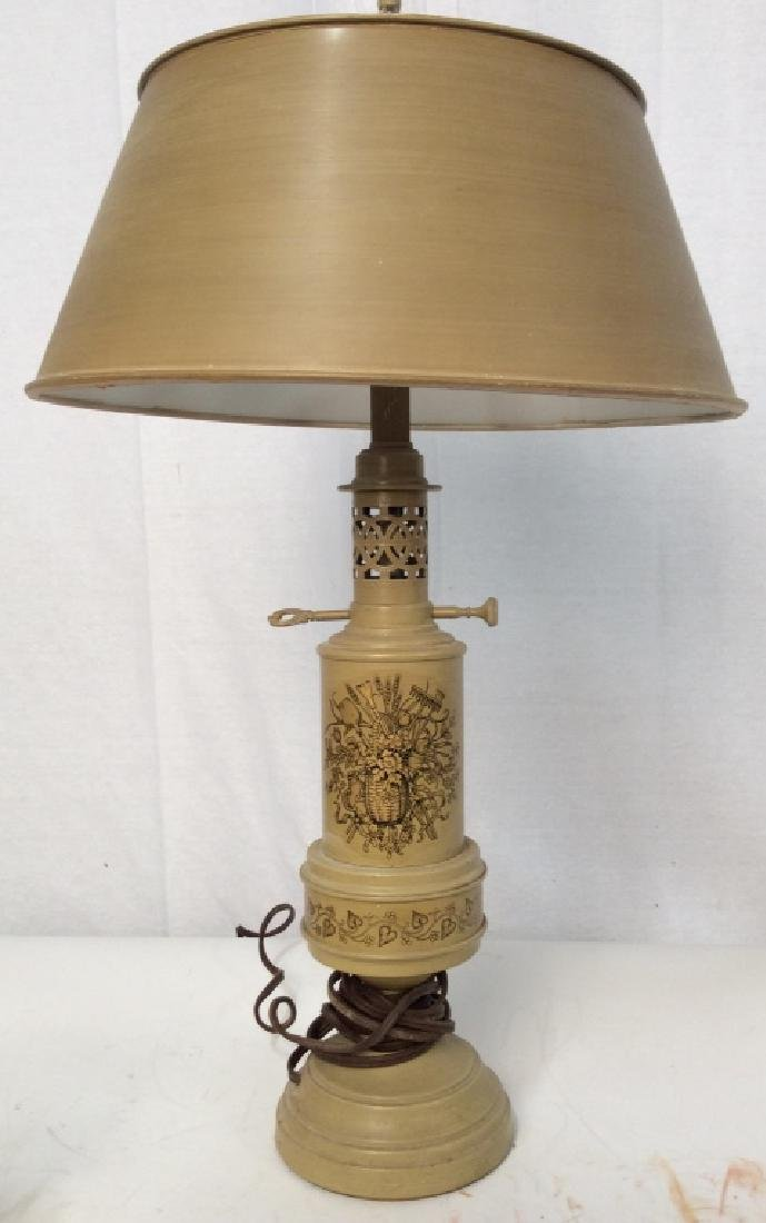 Hand painted Harvest Lamp