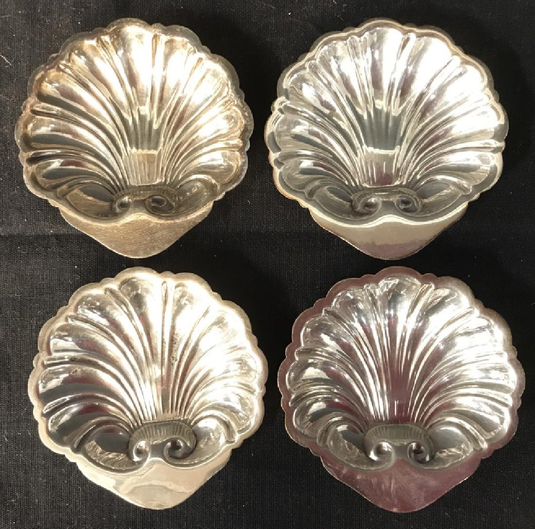 Set 4 CANTERBURY Silver Plated Condiment Dishes