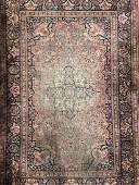 Vintage Handmade Indian Silk Rug