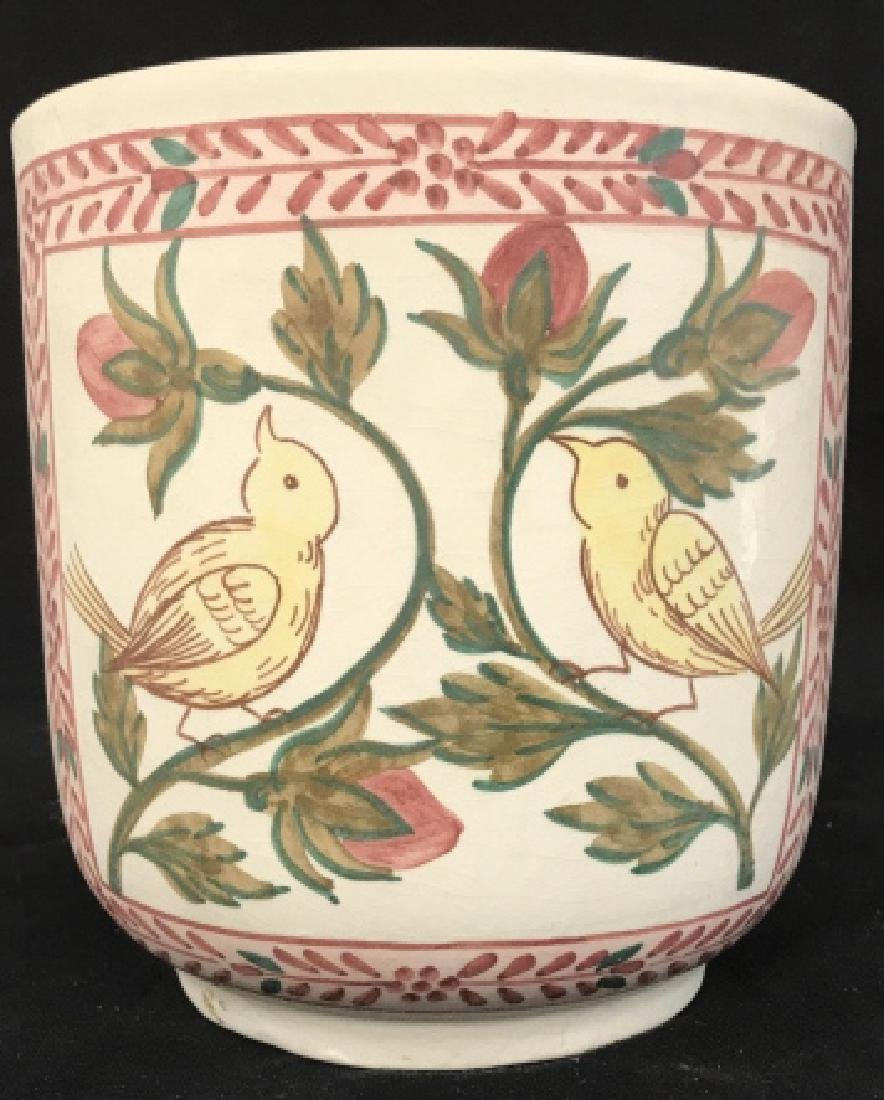 Hand Painted Italian Ceramic Vessel